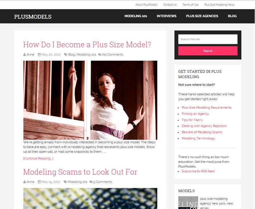 plusmodel listing